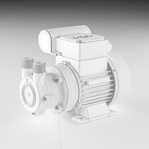 Water pump 3D product visualisation - wireframe